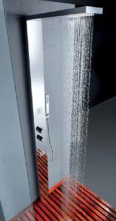 Cod. CLAI04CC3CR Colonna da pavimento in acciaio multifunzione anticalcare con miscelatore. Finiture: Cromo lucido Antiscale floor stainless steel shower column multifunction with mixer. Available: Bright chrome