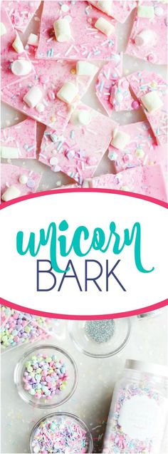 11 Unicorn Party Food Ideas For Kid's Birthday Party unicorn bark Pusheen Birthday, Unicorn Birthday, Dessert Party, Sucre Candi, Yummy Treats, Sweet Treats, Unicorn Foods, Bark Recipe, Cookies Et Biscuits