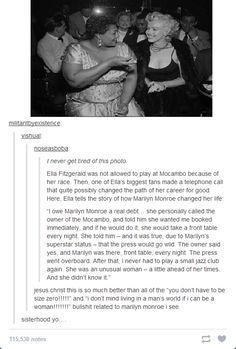 Marilyn Monroe... major props.