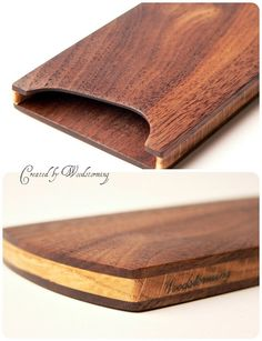 Wooden Business Card Case - Handmade, Walnut And Oak, Original Design - Ready To…