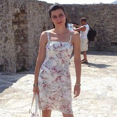 Silk summer dress -- free pattern