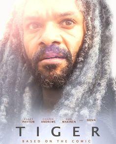 "Our next #walkingdead-themed #Oscars poster takes on Lion. Presenting: ""Tiger"" #skybound #thewalkingdead #twd #oscars2017 | Khary Payton as King Ezekiel | The Walking Dead Season"