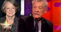 Ian McKellen's impression of Maggie Smith is literally brilliant #Oscars #GrahamNorton #LGBTQ