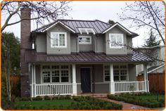 White House Dark Brown Metal Tin Roof Google Search