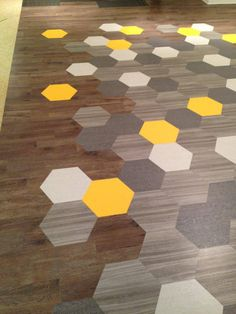 Amtico vinyl hex floor tiles from Mannington USA. #flooring #modern #honeycomb