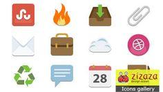 #Icon set - #Flat style - Zizaza item for #free #icons #webdesign #iconset