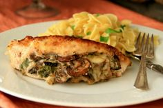 Cooking with Chopin, Living with Elmo: Mushroom-Stuffed Chicken Breasts
