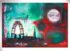 BURGSTALLER ORIGINAL XXL Gemälde Acryl Bild Malerei Kunst Leinwand Stadt WIEN 3
