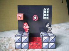 Diorama Mario 3 - Montado - 03 by Jhonat on DeviantArt Super Mario Bros, Pixel Art, Diy Shadow Box, Art Perle, Gamer Room, Art N Craft, Environment Design, Diy Projects To Try, Project Ideas