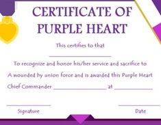 purple certificate template free downloads