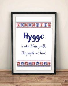 Digital Hygge Print People We Love Scandinavian by RedCatDecor