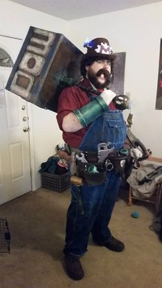 This Super Mario Cosplay Runs On Steam Power