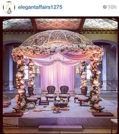 Mandap - but maybe fewer flowers & neutral colors