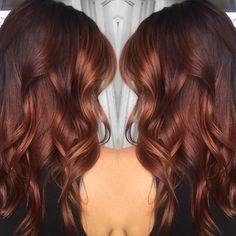 Rich copper balayage highlights for brunettes auburn hair balayage, redheads, long hair styles, Hair Color And Cut, Ombre Hair Color, Red Ombre, Auburn Balayage, Subtle Balayage, Copper Balayage Brunette, Fall Balayage, Balayage Hair Copper, Short Balayage