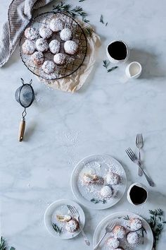 rosemary & lindt white chocolate truffle beignets