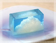 Japanese Sweets, wagashi, 雲の峰 Kumo no Mine - Cumulonimbus cloud 虎屋 Japanese Treats, Japanese Cake, Japanese Food, Traditional Japanese, Wagashi Japonais, Desserts Japonais, Japanese Wagashi, Eclairs, Tea Ceremony