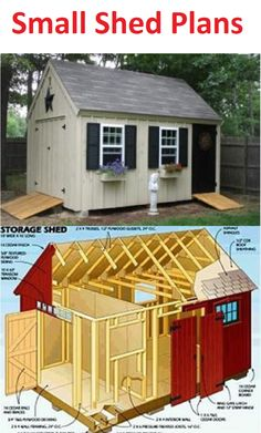 Small shed plans you can use to build your new shed.