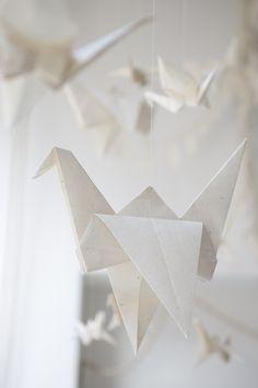 Origami Kranich von Laura Uribe