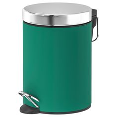 EKOLN Trash can, green. The clean, smooth curves give your bathroom a new and fresh expression. For a coordinated look, combine with other accessories in the EKOLN series. Wash Basin Accessories, Garbage Waste, Curtain Wire, Green Soap, Recycling Facility, Polypropylene Plastic, Sleeper Sectional, Recycling Bins, Soap Dispenser