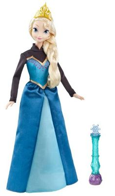 Disney Frozen Color Change Elsa Doll -Using the magic wand, or even your hand, water of any temperature will make pretty snowflakes appear on Elsa's skirt! Just keep in mind that this doll features a snowflake pattern, not the pattern of Arendelle, like shown in the movie, on coronation day.-