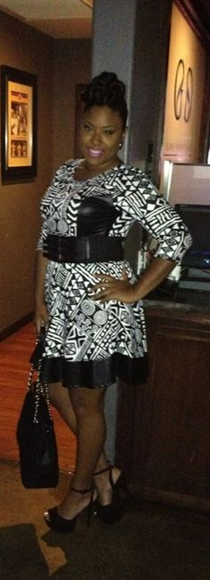 Checkout the beauty/fashion blogger Fashionista In The City rocking our New Plus Size Skater Dress Black and White Tribal Print with Liquid Bottom Hem at http://ajaalia.wordpress.com/2013/08/03/fashion-alert-another-chic-and-curvy-night-out-on-the-town/   Get this look at http://chicandcurvy.com/dresses/product/8686-i-new-plus-size-skater-dress-black-and-white-tribal-print-with-liquid-bottom-hem