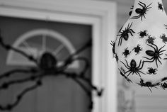 Make your guests' skin crawl with stockings and baseballs that look like spiders nests.