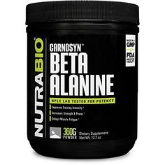 NutraBio Beta Alanine (Carnosyn) Powder - 360 Grams - Exellent quality and price. Protein Supplements, Natural Supplements, Nutritional Supplements, Transparent Labels, Beta Alanine, Muscular Endurance, Pre Workout Supplement, Chemistry Labs, Muscle Fatigue