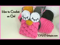 How to Crochet Crocodile Stitch Owl With Patterns
