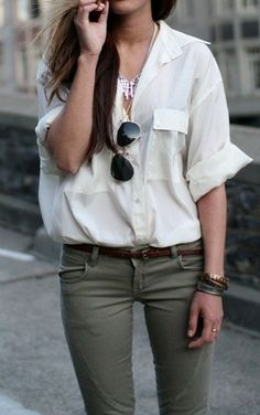Sheer boyfriend shirt!