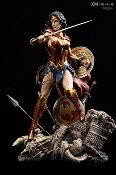Wonder Woman - Rebirth Statue by XM Studios Wonder Woman Kunst, Wonder Woman Art, Wonder Women, Coleccionables Sideshow, Sideshow Collectibles, Sideshow Statues, Batgirl, Marvel Dc, Dark Knight