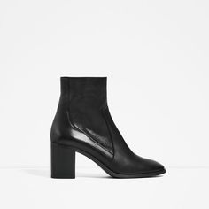 Image 2 of LEATHER HIGH HEEL ANKLE BOOTS from Zara