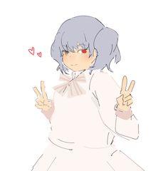 """these cuties… "" Saiko Yonebayashi, Tokyo Ghoul Manga, Kagerou Project, Kaneki, Kawaii Cute, Eye Color, Webtoon, Besties, Anime"