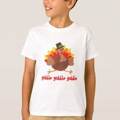 (Gobble Gobble - Funny Thanksgiving - T-shirt) #Animals #Birds #Cute #Funny #Gobble #Lovable #Thanksgiving #Turkey #Turkeys is available on Funny T-shirts Clothing Store   http://ift.tt/2ePQG2c