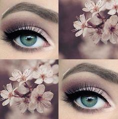 Amazing pale pink and plum smokey eye make-up Prom Eye Makeup, Smokey Eye Makeup, Wedding Hair And Makeup, Hair Makeup, Makeup Eyeshadow, Makeup Tarte, Pageant Makeup, Pageant Hair, Hair Wedding