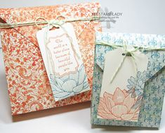 A Twist On The Bagalope! Use your Envelope Punch Board to make any size envelope and bag. www.mystamplady.com