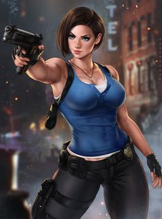 Post with 0 votes and 11 views. Jill Valentine, Resident Evil, by Dandon Fuga Resident Evil 3 Remake, Valentine Resident Evil, Resident Evil Girl, Resident Evil Anime, Jill Valentine, Chica Fantasy, Fantasy Girl, Female Cop, Female Character Design