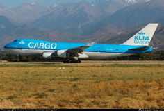 KLM Royal Dutch Cargo Airlines Boeing 747-406F(ER) PH-CKB aircraft, named ''LEEUWIN=a Naturaliste National Park in S.W Australia'', landing at Kazakhstan Almaty International Airport. 07/09/2014.