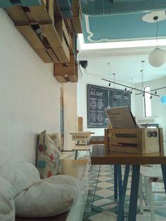 A corner view of the place Thessaloniki, Spoon, Corner, Desk, Places, Furniture, Home Decor, Desktop, Decoration Home