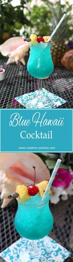 Need a vacation? Try one of these Blue Hawaii Cocktails and pretend you're laying on a beach somewhere! via @creativculinary