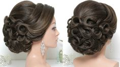 Bridal hairstyle for long hair tutorial. Updo for wedding