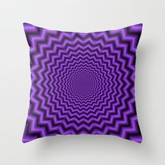 Crinkle Cut in Purple Throw Pillow by Objowl - $20.00