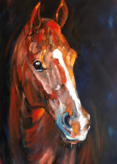 Horse in Oils by Jane Digby
