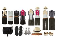 In this Travel Stylist Style-Mix, we show you how to make 8 unique fashion ensembles with just 4 items. That's more than one week's worth of travel outfits!