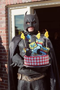 What kid does not want Batman to deliver his cake!!  Happy 4th Birthday Hayes