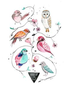 Birds of the Wild  -  8x10 archival print by Meeralee
