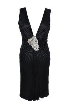 #JennyPackham | Mit Swarovski #Steinen besticktes Plissee Dress aus reiner Seide, Gr. S | Jenny Packham | mymint-shop.com | Ihr #OnlineShop für #Secondhand / #Vintage #Designerkleidung & #Accessoires bis zu -90% vom Neupreis das ganze Jahr #mymint
