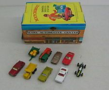 1960's Matchbox Vinyl Sears Service Station Fold Out Play Set - Played with Uncle Bruce's all of the time!