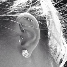 Triple helix piercing finally!