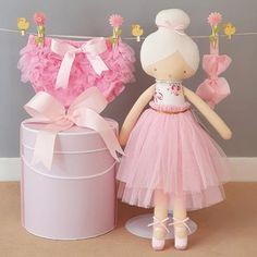 This gorgeous Alimrose ballerina doll and bloomers set with big bow head band will make the perfect new baby girl gift, as the bloomers will fit a girl from this gift box will also make a great older sibling gift. Ballerina Doll, Little Ballerina, New Baby Girls, Baby Girl Gifts, Sibling Gifts, Beautiful Baby Girl, Bunny Toys, Cute Bows, Baby Hats