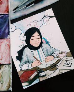 Free Anime Photos and Seo Tutorials Fashion Sketch Template, Fashion Templates, Muslim Girls, Muslim Couples, Hijab Drawing, Islamic Cartoon, Hijab Cartoon, Free Anime, I Love Books